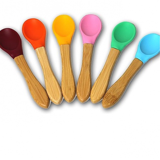 Bamboo spoon with silicone